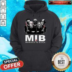 Official Horror MIB Maniacs In Black Hoodie