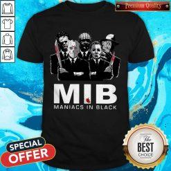 Official Horror MIB Maniacs In Black T-Shirt