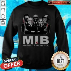 Official Horror MIB Maniacs In Black Sweatshirt