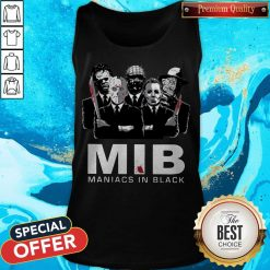 Official Horror MIB Maniacs In Black Tank Top