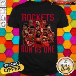 Official Rockets Run As One T-Shirt