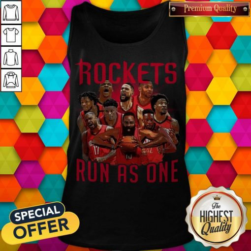 Official Rockets Run As One Tank Top