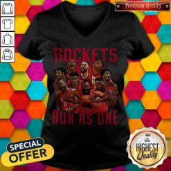Official Rockets Run As One Vneck