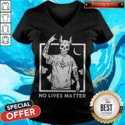 Official Satan No Lives Matter V-neck
