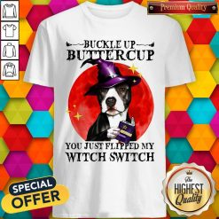 Pitbull Buckle Up Buttercup You Just Flipper My Witch Switch Sunset Shirt