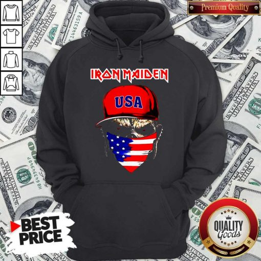 Skull Iron Maiden USA Flag Independence Day Hoodie
