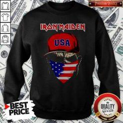 Skull Iron Maiden USA Flag Independence Day Sweatshirt
