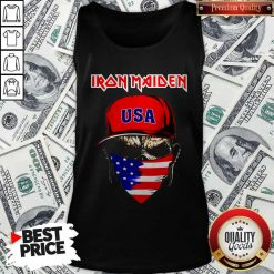 Skull Iron Maiden USA Flag Independence Day Tank Top