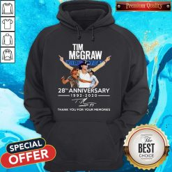 Tim Mcgraw 28th Anniversary 1992-2020 Thank You For The Memories Hoodie