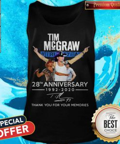 Tim Mcgraw 28th Anniversary 1992-2020 Thank You For The Memories Tank Top
