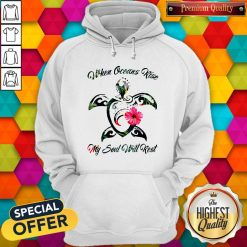 Turtle Hawaii When Oceans Rise My Soul Will Rest Hoodie