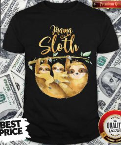 Womens Mama Sloth Cute Mothers Day T-Shirt