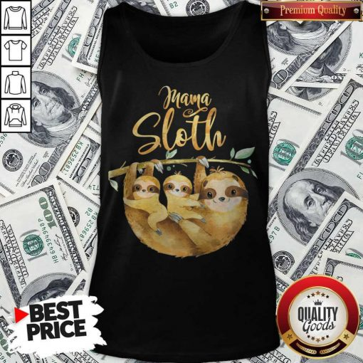 Womens Mama Sloth Cute Mothers Day Tank Top