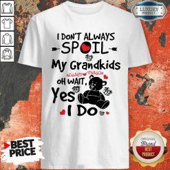 Bear I Don't Always Spoil My Grandkids Oh Wait Yes I Do Shirt