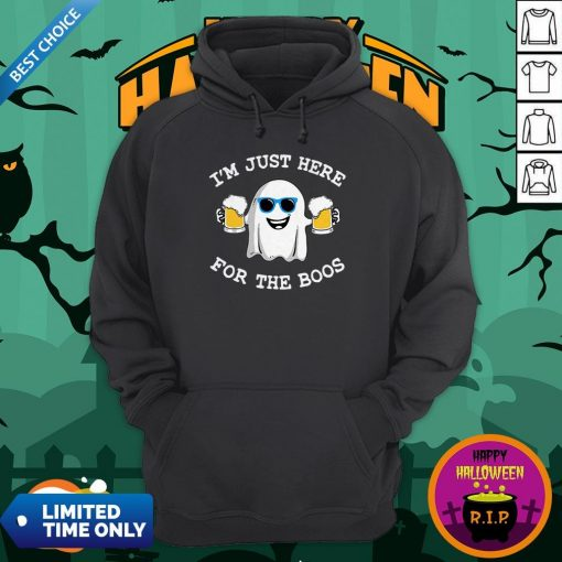 Ghost I'm Just Here For The Boos Halloween Hoodie