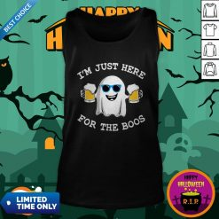 Ghost I'm Just Here For The Boos Halloween Tank Top