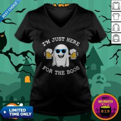 Ghost I'm Just Here For The Boos Halloween V-neck