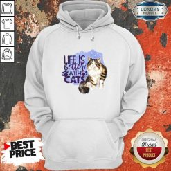 Good Life Is Letter With Cats Hoodie