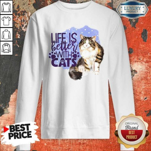 Good Life Is Letter With Cats Sweatshirt