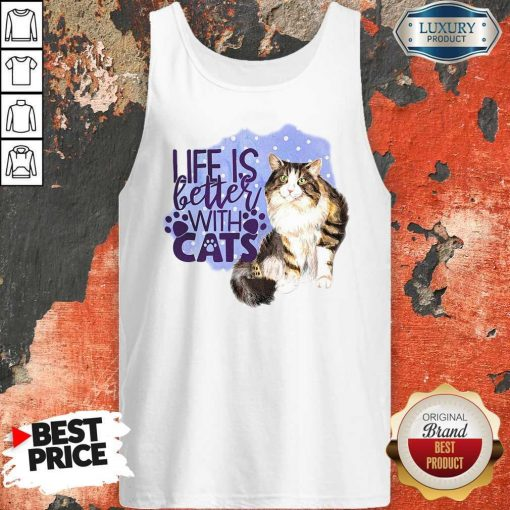 Good Life Is Letter With Cats Tank Top