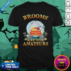 Halloween Brooms Are For Amateurs Jeep ShirtHalloween Brooms Are For Amateurs Jeep Shirt