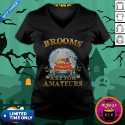 Halloween Brooms Are For Amateurs Jeep V-neck