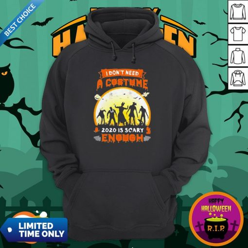 Halloween Nurse I Don't Need A Costume 2020 Is Scary Enough Sunset Hoodie
