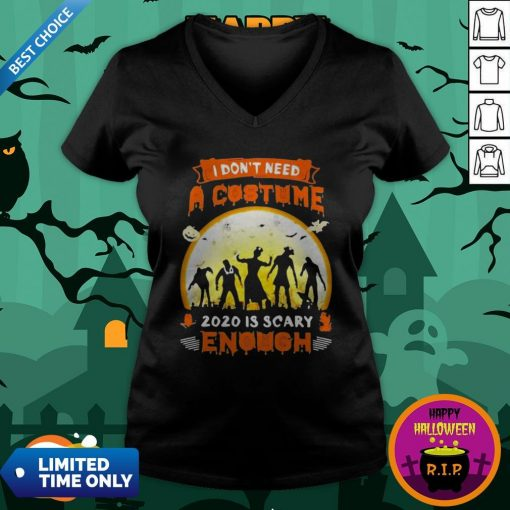 Halloween Nurse I Don't Need A Costume 2020 Is Scary Enough Sunset V-neckHalloween Nurse I Don't Need A Costume 2020 Is Scary Enough Sunset V-neck