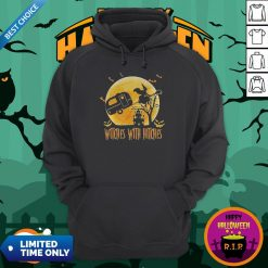 Happy Halloween Camping Witches With Hitches Moon Hoodie