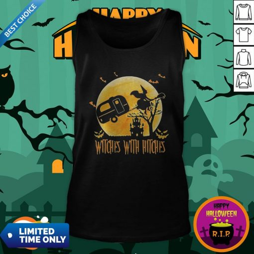 Happy Halloween Camping Witches With Hitches Moon Tank Top