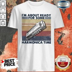 I'm About Ready For Some Harmonica Time Vintage Retro Shirt
