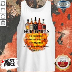 Jack Daniel's The Nighttime Sniffling Sneezing How The Tank Top