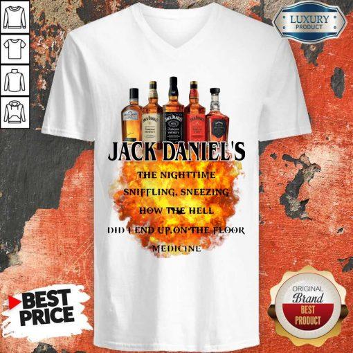 Jack Daniel's The Nighttime Sniffling Sneezing How The V-neck