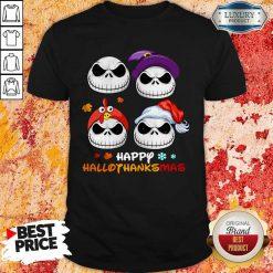 Jack Skellington Happy Hallothanksmas ShirtJack Skellington Happy Hallothanksmas Shirt