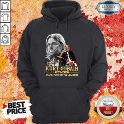Kurt Cobain 1967-1994 Thank You For The Memories Hoodie