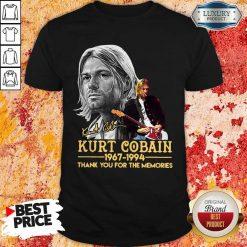 Kurt Cobain 1967-1994 Thank You For The Memories Shirt