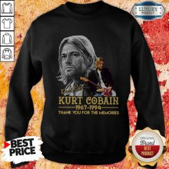 Kurt Cobain 1967-1994 Thank You For The Memories SweatshirtKurt Cobain 1967-1994 Thank You For The Memories Sweatshirt