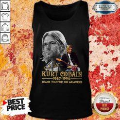 Kurt Cobain 1967-1994 Thank You For The Memories Tank Top
