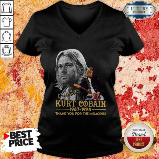 Kurt Cobain 1967-1994 Thank You For The Memories V-neckKurt Cobain 1967-1994 Thank You For The Memories V-neck