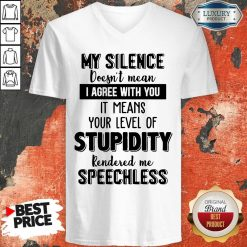 My Silence Your Level Of Stupidity Rendered Me Speechless V-neck