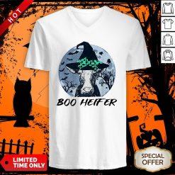 Official Halloween Boo Heifer V-neck