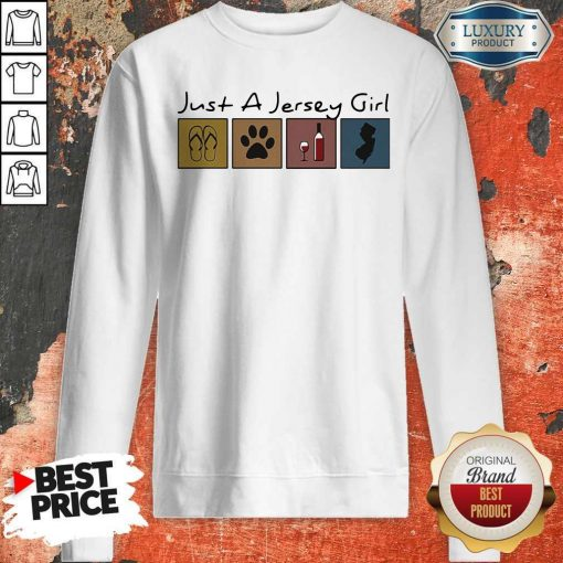 Official Just a New Jersey Girl Sticker Sweatshirt