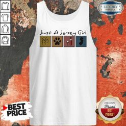 Official Just a New Jersey Girl Sticker Tank Top