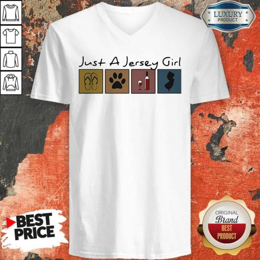 Official Just a New Jersey Girl Sticker V-neck