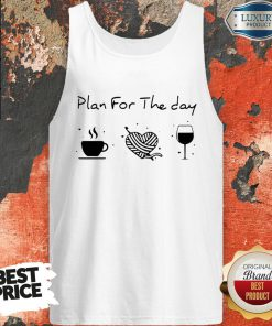 Plan For The Day Coffee Heart Knitting Wine Tank Top