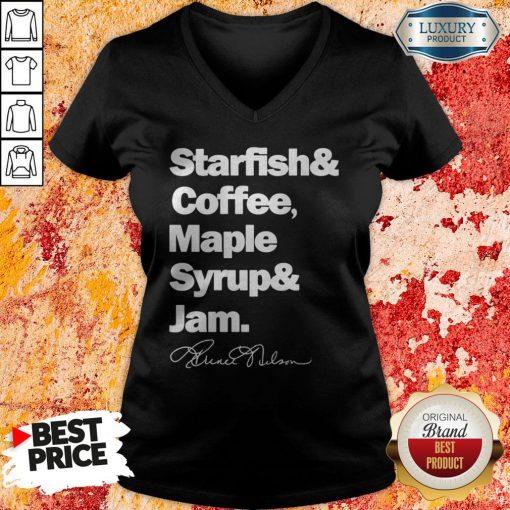 Prince Starfish Coffee Maple Syrup And Jam V-neckPrince Starfish Coffee Maple Syrup And Jam V-neck