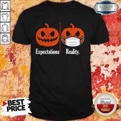 Pumpkin Expectations Pumpkin Face Mask Reality Shirt
