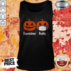 Pumpkin Expectations Pumpkin Face Mask Reality Tank TopPumpkin Expectations Pumpkin Face Mask Reality Tank Top