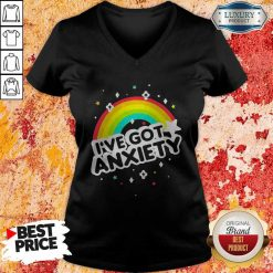 Rainbow I've Got Anxiety V-neck