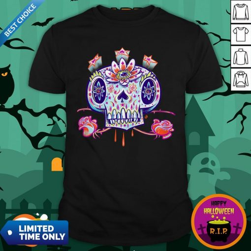 Shooga Sugar Skull Dia De Los Muertos Shirt